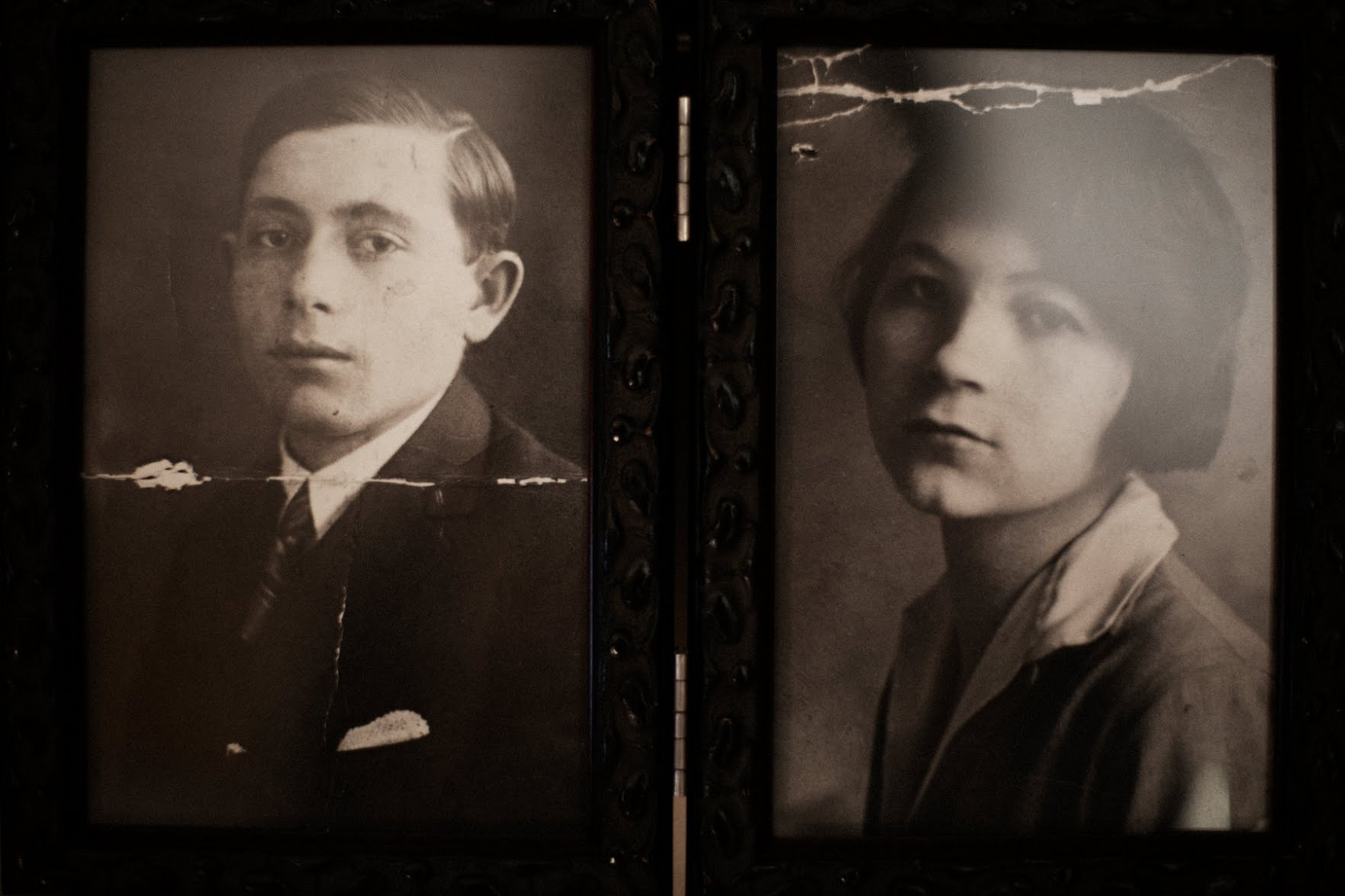 Photographs of Mr. Sarlo's parents.