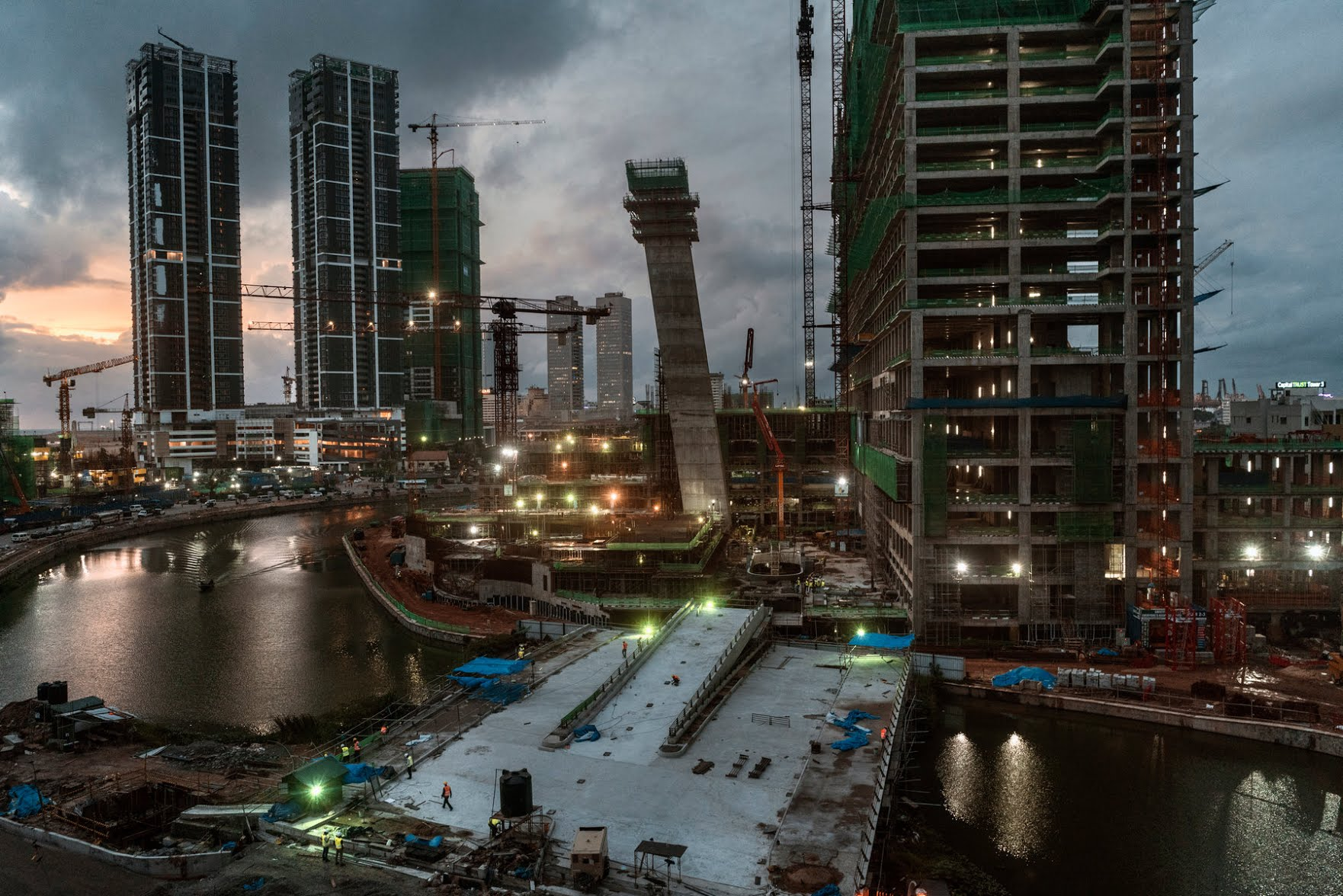 The changing skyline of Colombo, Sri Lanka, in 2018. Hungry for money to stir growth, Sri Lanka has borrowed heavily from China in recent years.