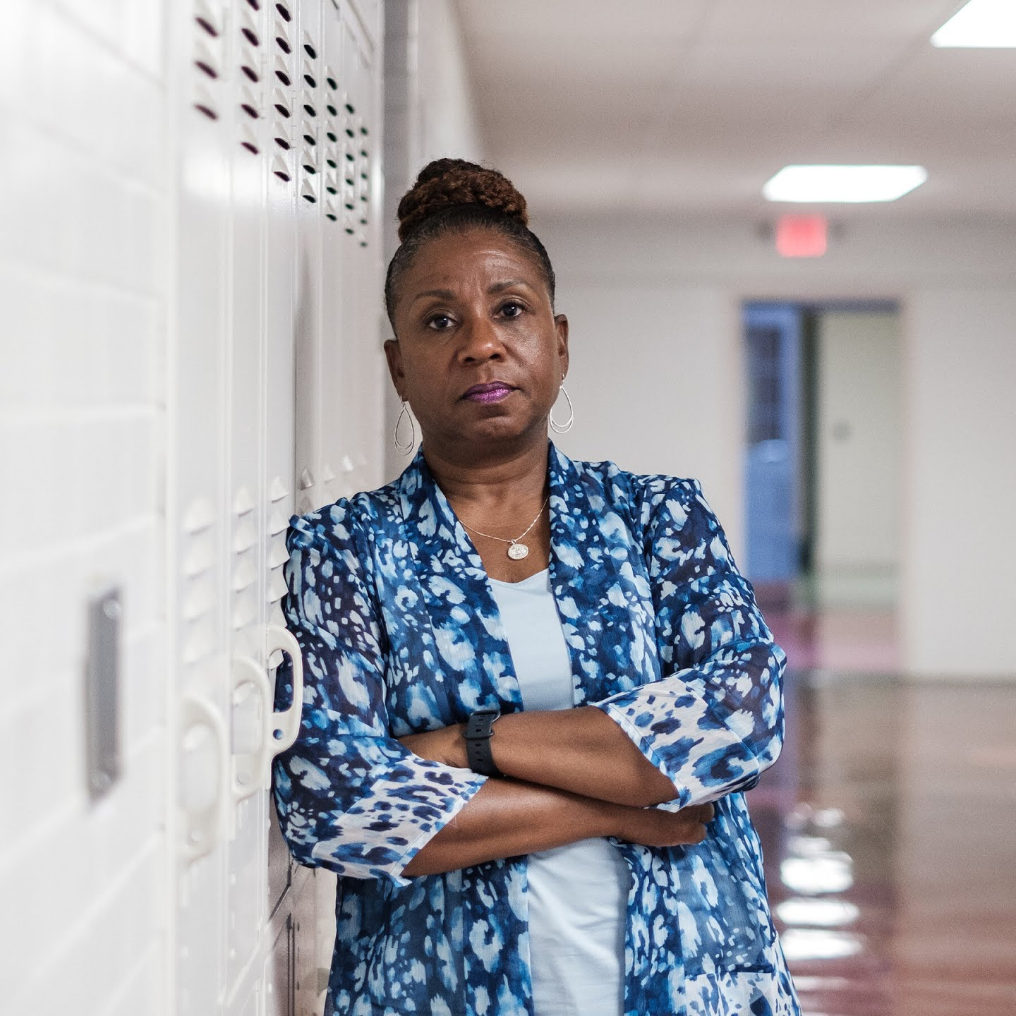 Andrea Kane on her last day as superintendent of schools in Queen Anne's County, Md.