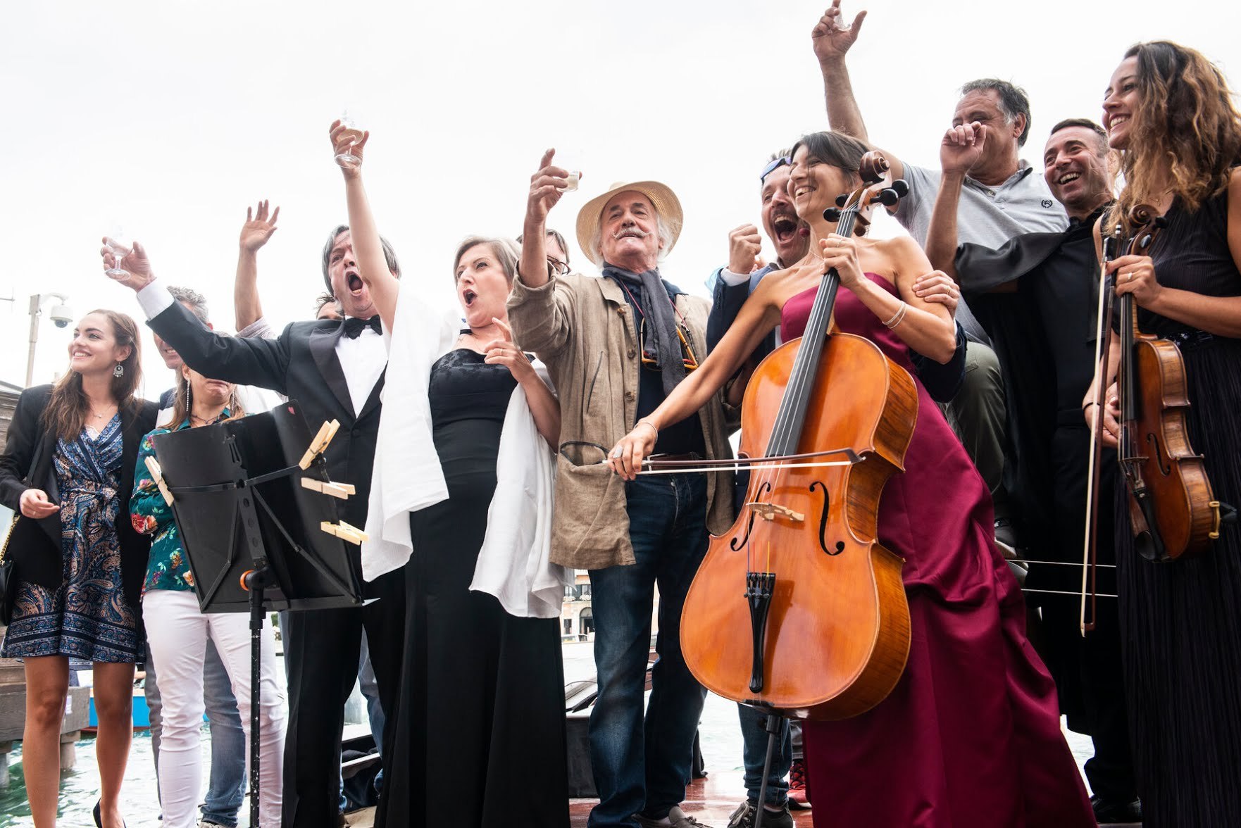 """A prosecco toast.At a ceremony, the Rev. Florio Tessari blessed the violin and said he hoped it would """"travel the world as a message of hope."""""""